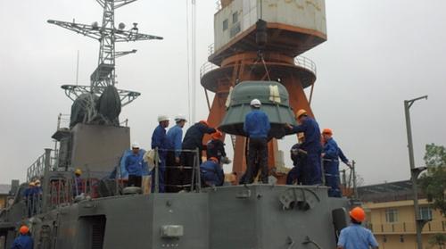 Instalasi AK-630 di kapal perang Vietnam.