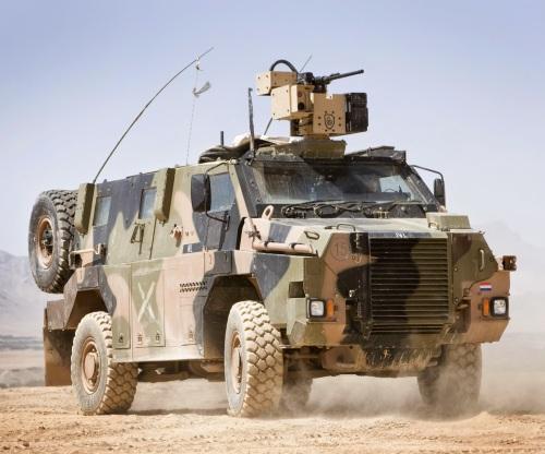 Bushmaster milik Belanda dengan RCWS kaliber 7,62 mm dalam operasi di Afghanistan.