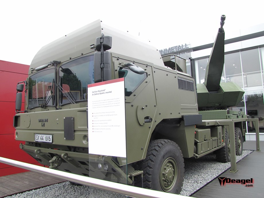 Skyshield dapat ditempatkan dalam platform truk.