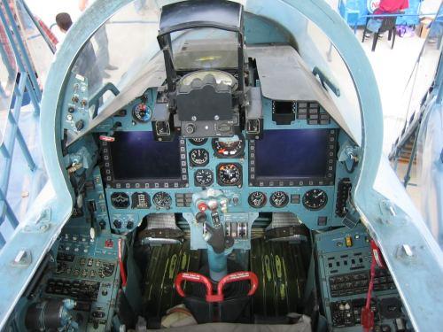 Tampilan kokpit Sukhoi Su-30MK