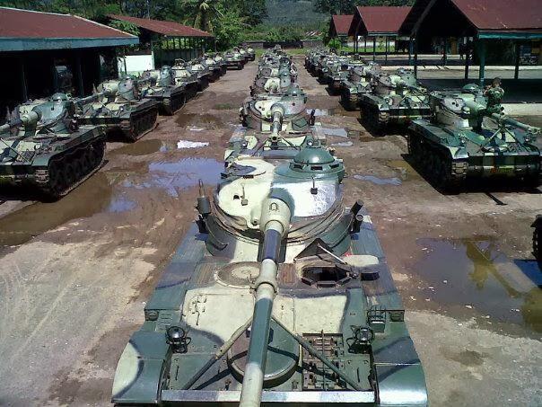 Deretan AMX-13 yang siap di retrofit.