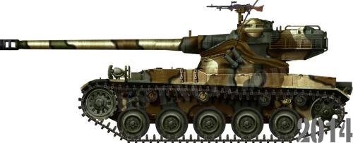 AMX-13 dengan meriam 75 mm.