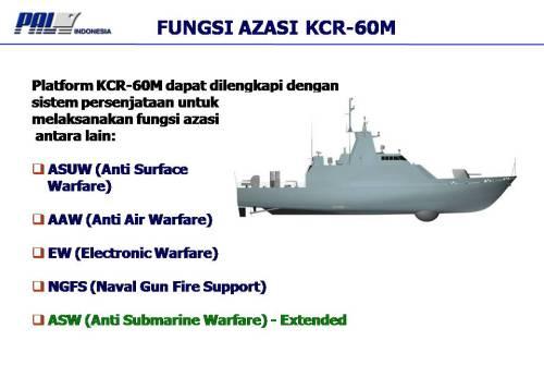 KCR 60 lebih menekankan untuk menghadapi sasaran permukaan dan udara.
