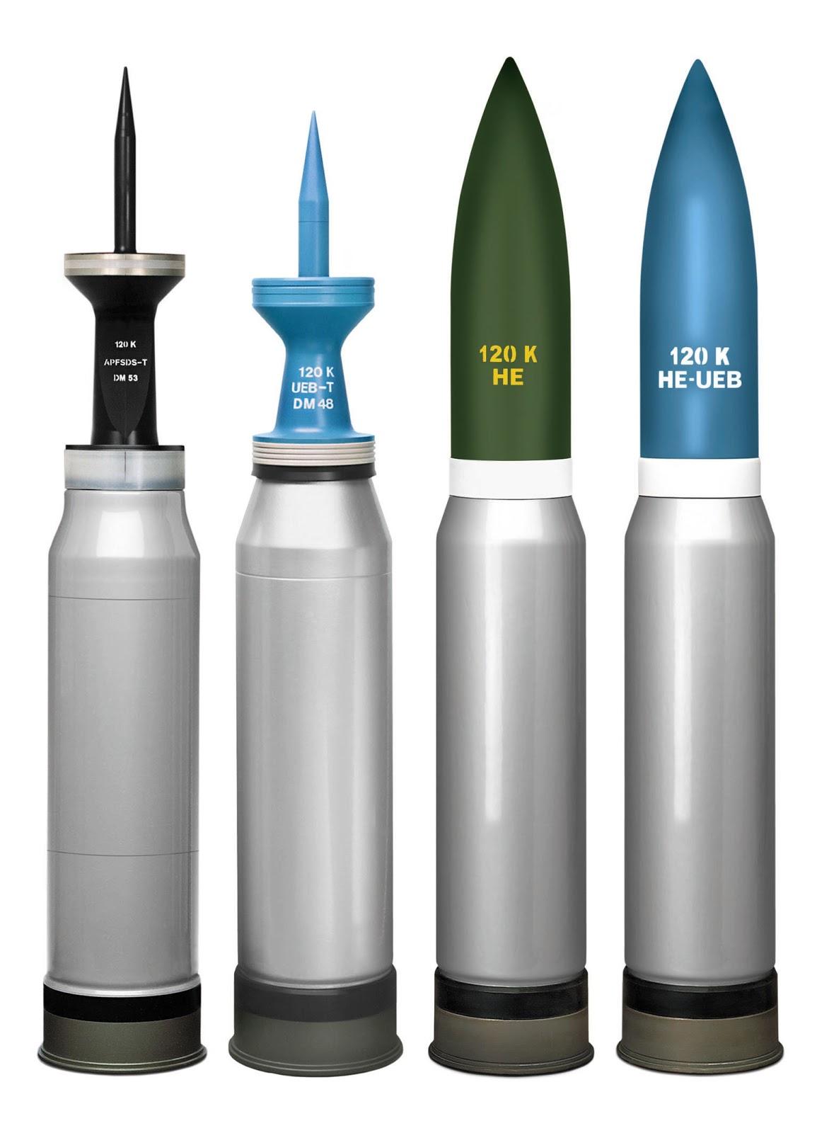 Amunisi kaliber 120 mm.
