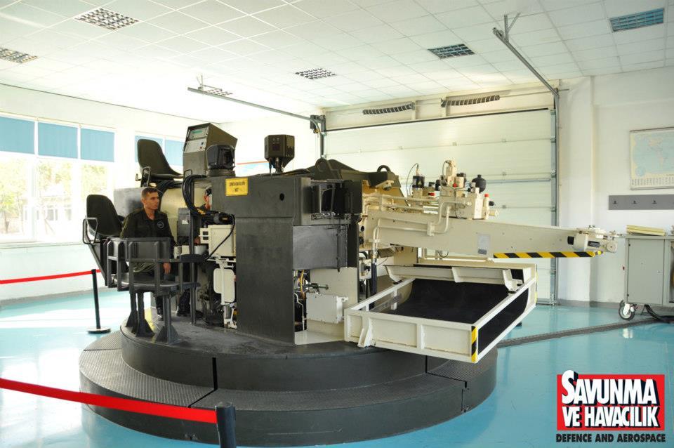 Simulator kubah Leopard 2A4.