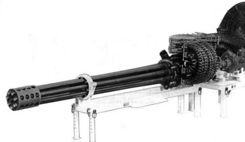 Laras Type 730 mencomot model GAU-8_Avenger.