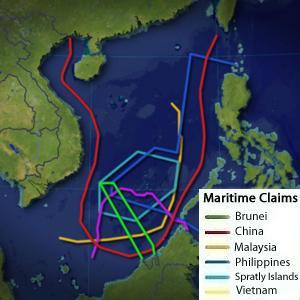 Saling klaim di Laut Cina Selatan.