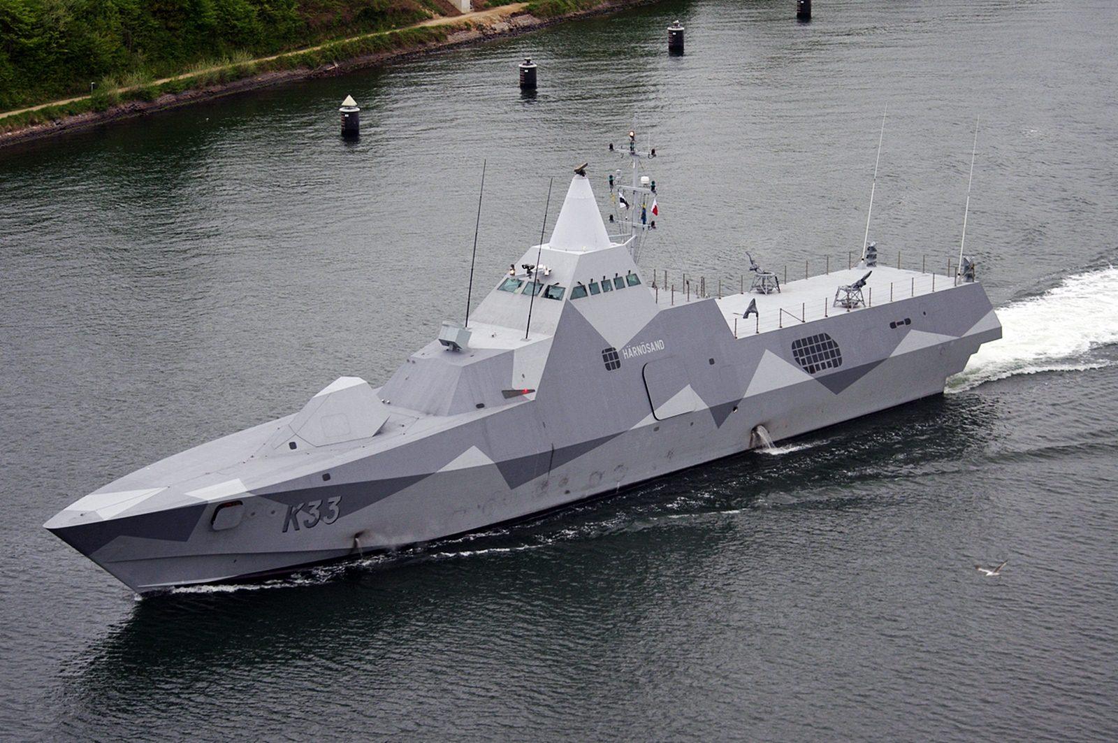 Korvet AL Swedia Vibby Class yang juga dibekali rudal RBS-15 MK3