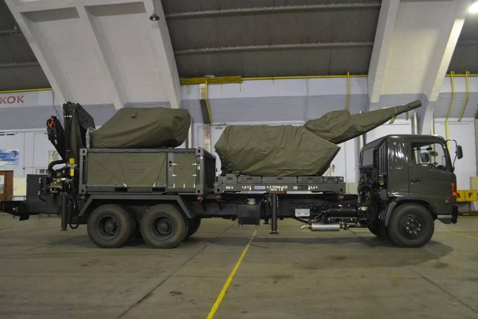 Skyshield TNI AU berikut Unit Sensor dalam deck truk Paskhas.
