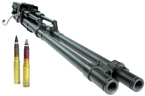 Senjata GSh-30 mm laras ganda dalam wujud utuh.