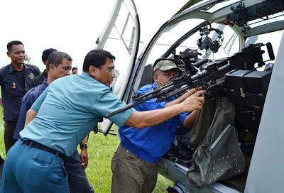 Untuk operasi khusus, NBO-105 TNI AL dipasangi doorgun.