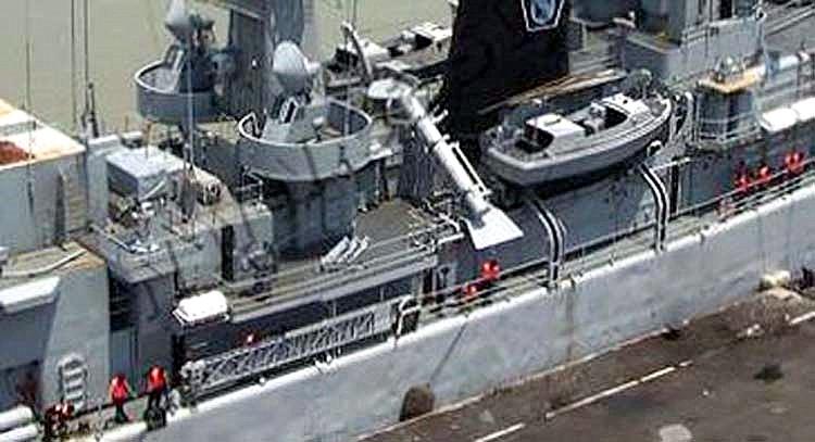 Rudal C-802 sebagai pengganti Harpoon.