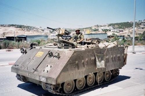 M113 Israel dilapisi proteksi Toga.