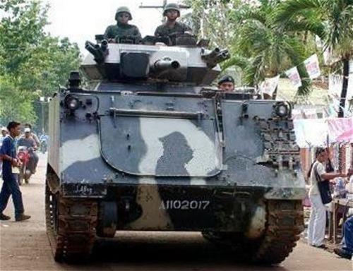 M113 FSV (IFV) milik AD Filipina dengan meriam kaliber 76 mm.