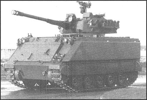 M113 bertransformasi sebagai IFV, tampak dalam foto dibekali kanon Cockerill kaliber 90 mm.