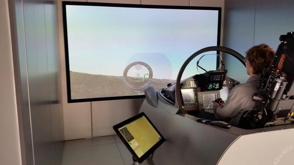 Cockpit demonstrator Eurofighter Typhoon.