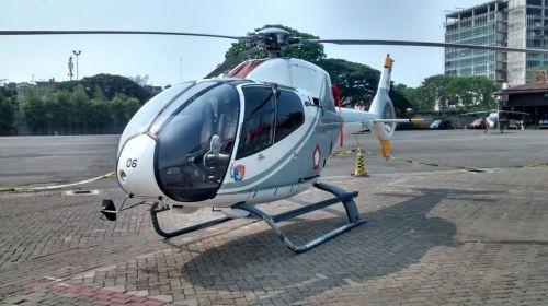 Kembaran Panther, 365N3+ Dolphin Basarnas, ditampilkan dalam Indo Defence 2014.