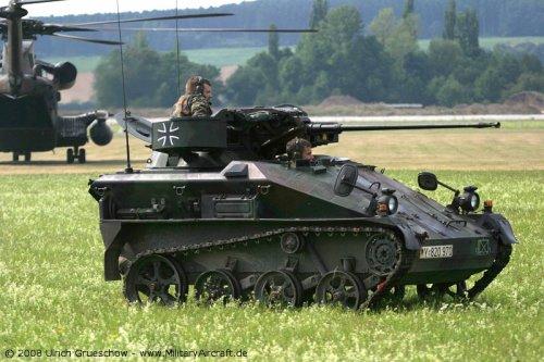 Varian paling populer dengan kanon Rheinmetall 20mm.