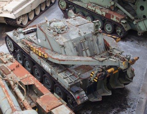 AMX-13_Modèle_55_(AMX-D)_Recovery,_named_VIMY_as_memorial,_Tanks_in_the_Musée_des_Blindés,_France,_pic-2