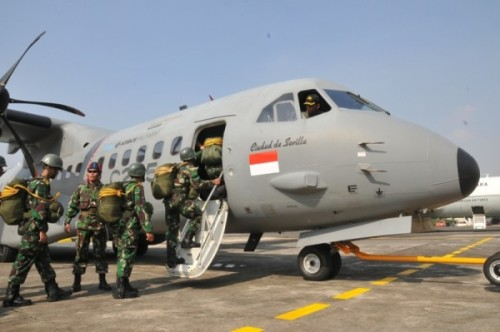 Demo C-295 di Indonesia.