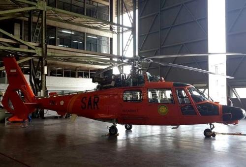 Di hangar PT Dirgantara Indonesia.