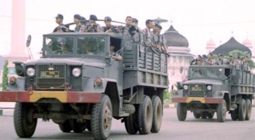 Digunakan Brimob Polri dalam operasi di Aceh.